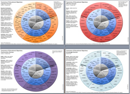 Circular representations of educational taxonomies